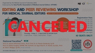 Editing and Peer Reviewing Workshop for Medical Journal Editors