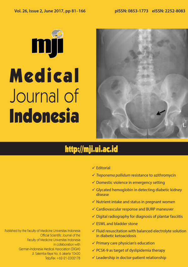 The Effect Of Balanced Electrolyte Solution Versus Normal Saline In The Prevention Of Hyperchloremic Metabolic Acidosis In Diabetic Ketoacidosis Patients A Randomized Controlled Trial Medical Journal Of Indonesia
