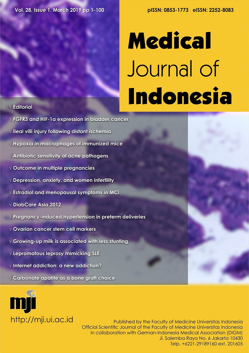 Cd133 Cd44 And Aldh1a1 As Cancer Stem Cell Markers And Prognostic Factors In Epithelial Ovarian Cancer Medical Journal Of Indonesia
